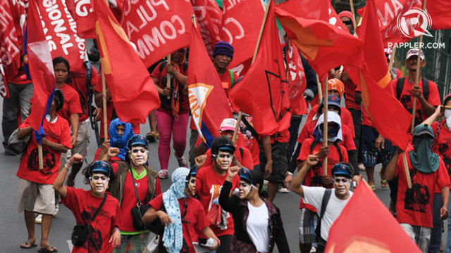 MORE MEMBERS? The NDF belittles economic gains under Aquino government and claims NPA guerilla fronts increased under his term. Photo by Edwin Espejo/Rappler
