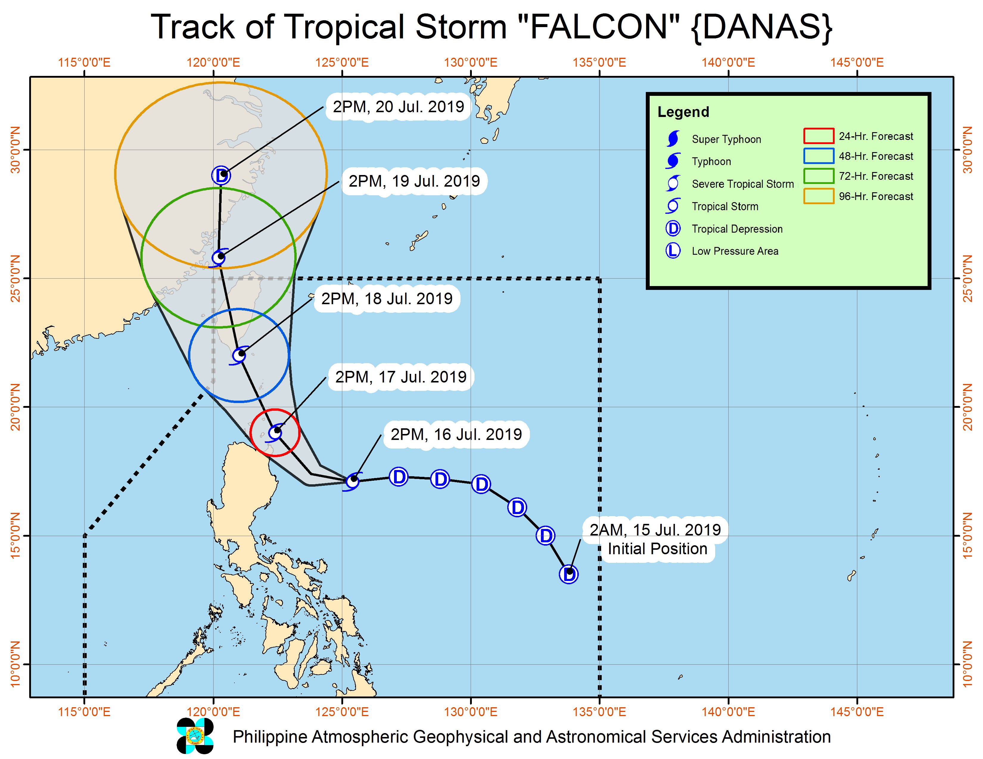 Falcon intensifies into tropical storm