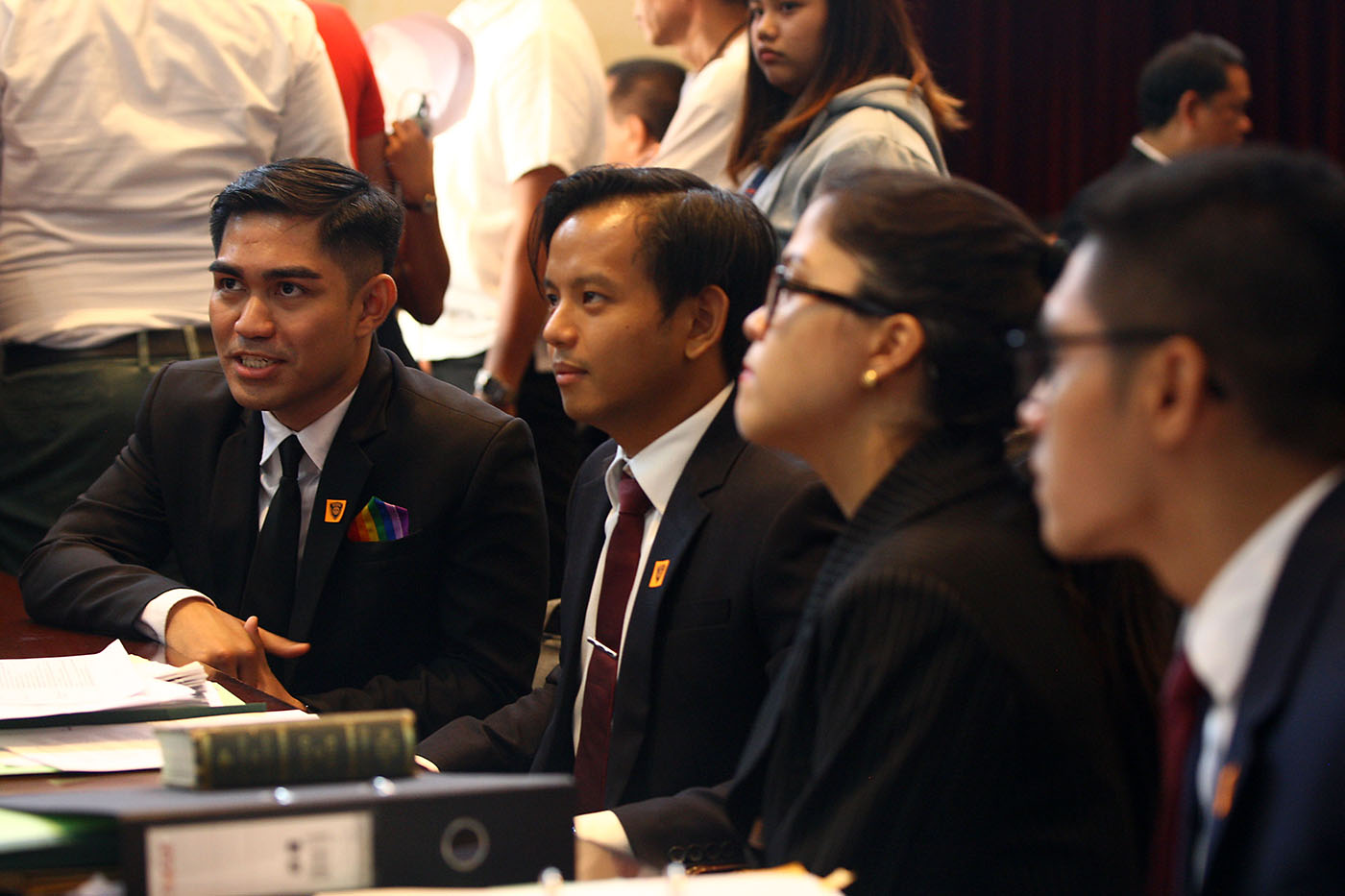 GROUNDBREAKING. The team of lawyers led by Jesus Falcis faces the Supreme Court. Photo by Ben Nabong/Rappler