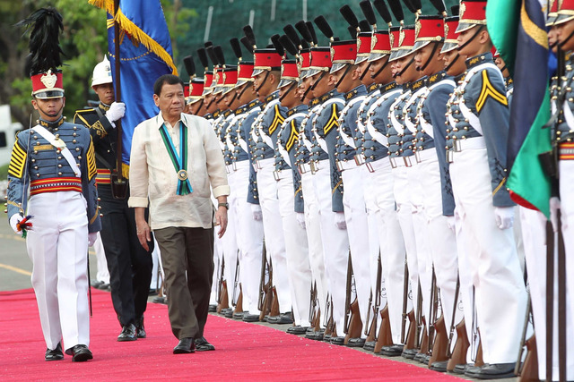 HONOR GUARDS. Students of the Philippine Military Academy (PMA) served as honor guards during the 81st anniversary celebration of the Armed Forces of the Philippines