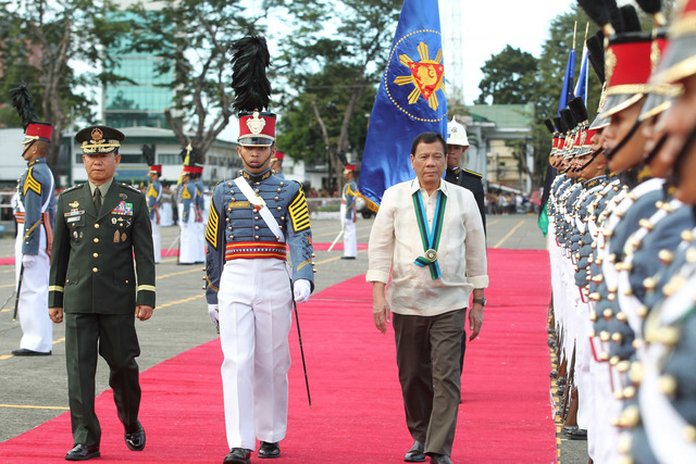 81 YEARS. President Rodrigo Duterte leads the anniversary celebration of the Armed Forces of the Philippines on Wednesday, December 21. Malacañang photo