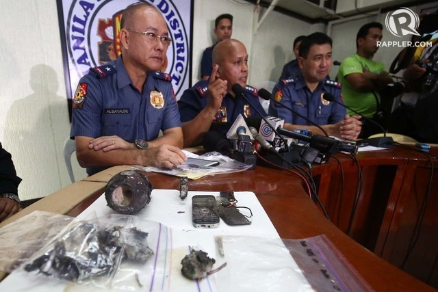 HEIGHTENED ALERT. PNP chief Ronald dela Rosa holds a press conference at the Manila Police District headquarters regarding the improvised bomb found near the US embassy in Manila on November 28, 2016. Photo by Ben Nabong/Rappler
