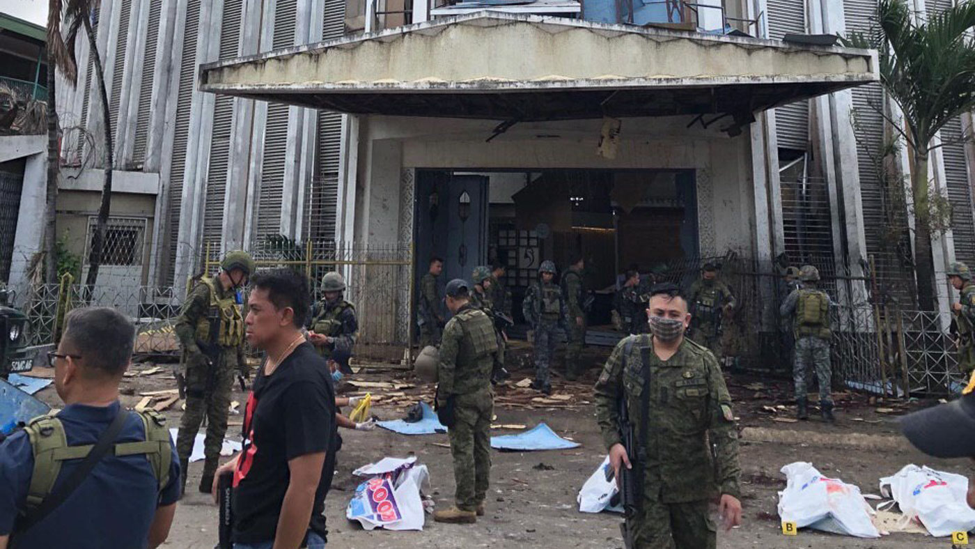 Islamic State group claims twin suicide bombings of Jolo Cathedral