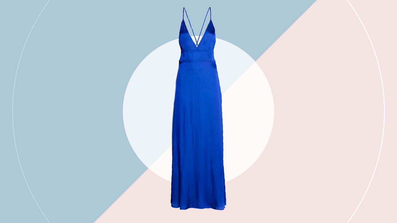 Satin maxi dress (P 3,290) hm.com