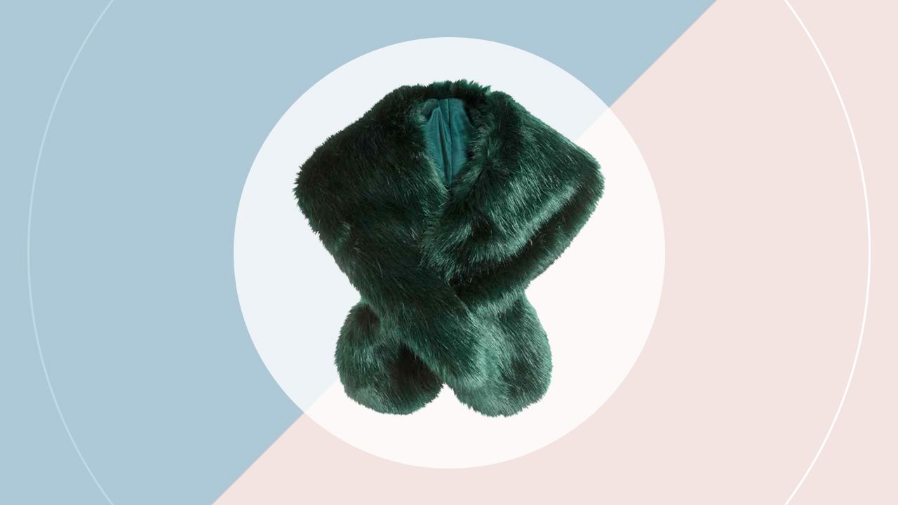 Faux-fur scarf (P899). hm.com