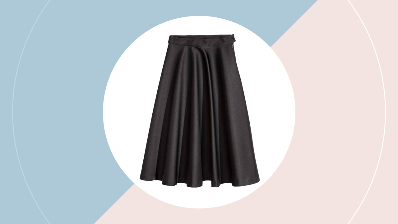 Satin skirt (P 2, 690) hm.com