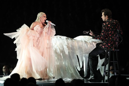 LADY GAGA. The artist performs onstage at the 60th Annual GRAMMY Awards. Photo by Christopher Polk/Getty Images for NARAS/AFP