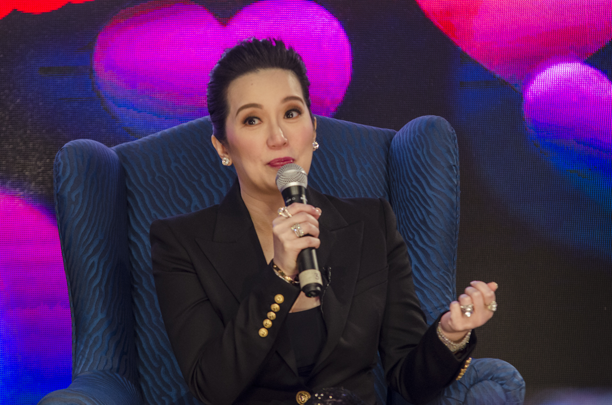 KRIS AQUINO. The media mogul goes viral yet again in a candid video captured during the April 22 Luzon earthquake. File photo by Rob Reyes/Rappler