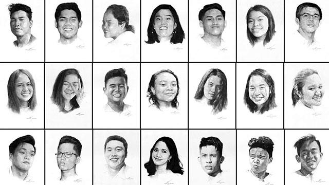 PORTRAITS. John Paul Valencia, 18 years old, draws portraits of his classmates and adviser.