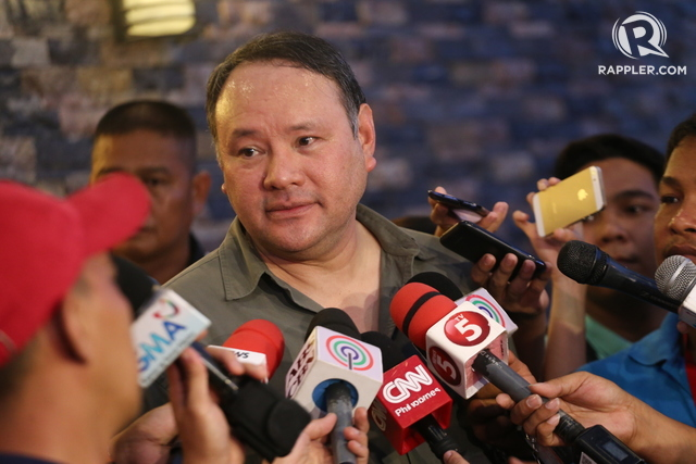 STILL DECIDING. Gibo Teodoro is still thinking about Rodrigo Duterte's offer for him to return to the Department of National Defense. File photo by Manman Dejeto/Rappler