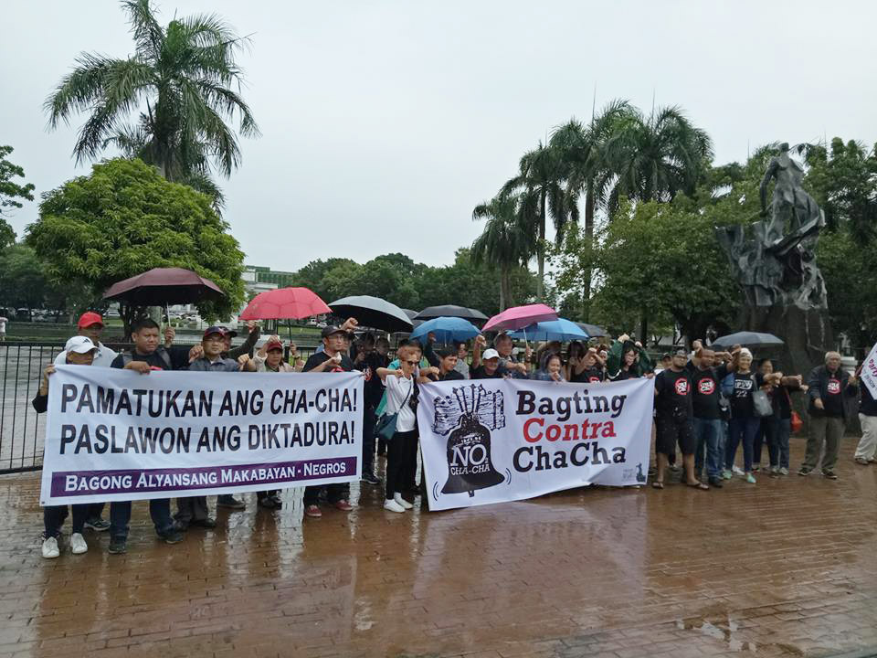 BACOLOD CITY. Various sectors in Bacolod City stage '€œBagting contra Cha-Cha' on Monday, July 23, 2018, at the Capitol Park and Lagoon. Photo courtesy by Zara Alvarez/Rappler
