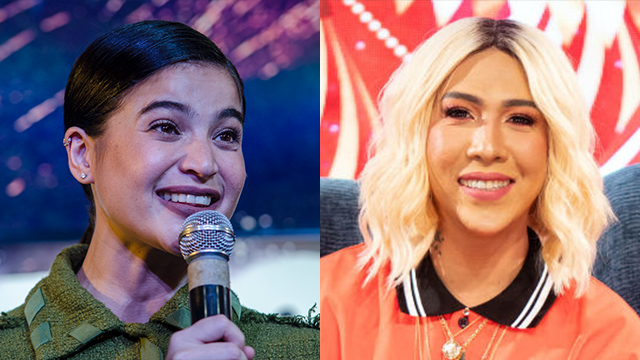 TEAM UP. Anne Curtis confirms she and Vice Ganda are doing a movie, scheduled for end of the year. File photos by Rob Reyes/Dion Besa/Rappler