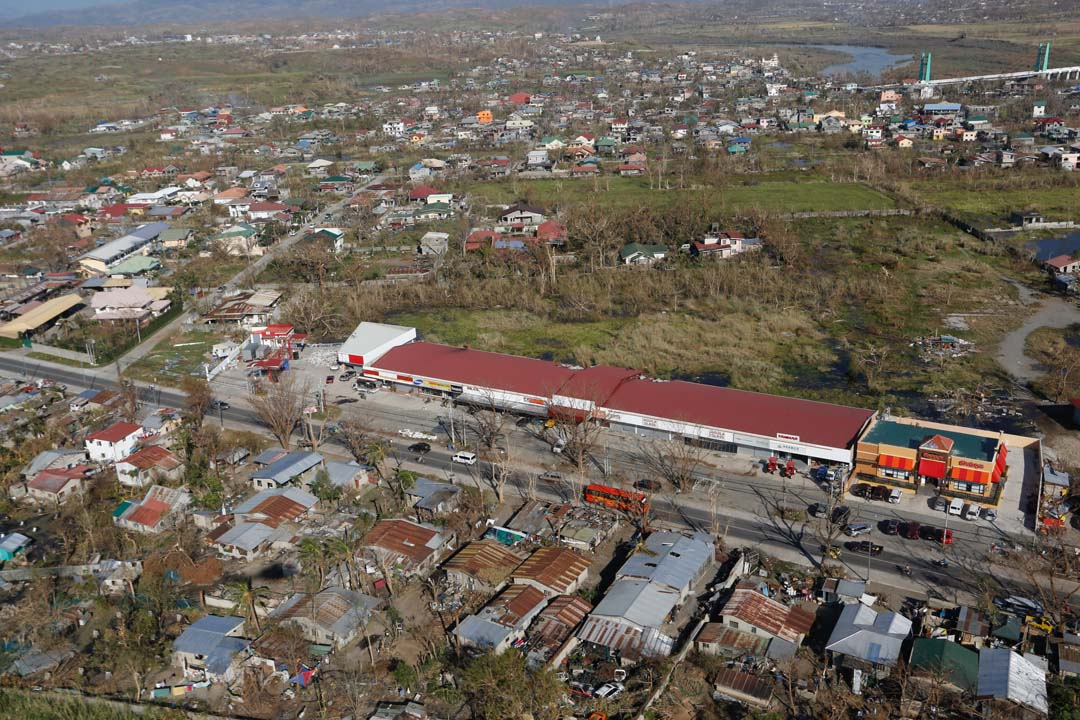 TOPVIEW. Realtime info is needed during a disaster. An aerial view of the devastation brought about by Super Typhoon Lawin in Tuguegarao City. TOTO LOZANO/Presidential Photo