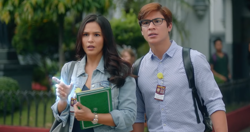 MAGIC. Adela (iza Calzado) uses her magic to save some kids about to get into trouble. Screenshot from YouTube/iflix Philippines