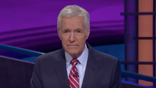 ALEX TREBEK. The 'Jeopardy' host announces that he was recently diagnosed with stage 4 pancreatic cancer. Screenshot from Twitter.com/Jeopardy