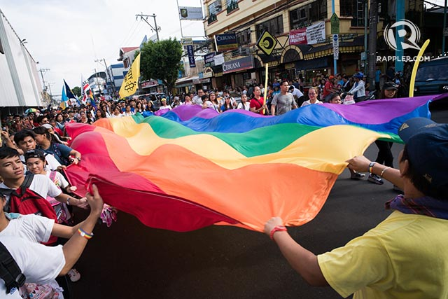PRIDE. Thousands join the 2017 Metro Manila Pride March called 'Here Together' on June 24, 2017 in Marikina City. Photo by Martin San Diego/Rappler