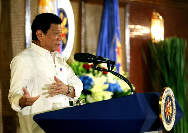 'MATTER OF PRINCIPLE.' President Duterte speaks during one of his events in Malacañang Palace on September 12, 2016. Photo by Toto Lozano/PPD