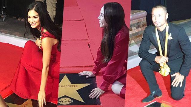 WALK OF FAME 2019. Pia Wurtzbach, Julia Barretto, and Derek Ramsay are among this year's stars honored at the 'Walk of Fame' 2019. Screenshots from Pia Wurtzbach and Jojie Dingcong's Instagram