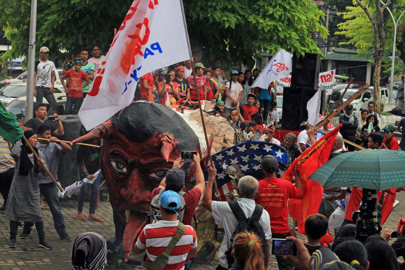 NORTHERN MINDANAO. In Cagayan de Oro,  hundreds of farmers, workers and displaced indigenous peoples troop to Ramon Magsaysay Park to express their opposition against to what they call 'one of the darkest' leaderships in the Philippines. Photo by Bobby Lagsa/Rappler
