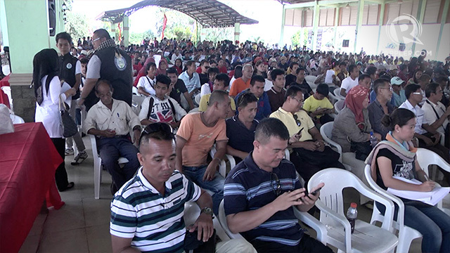 INCLUSIVITY. About 500 residents attend the Senate public hearing on the proposed Bangsamoro Basic Law on Wednesday, May 13, at Jolo, Sulu.