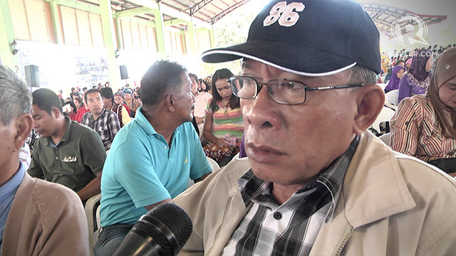 RIVALRY. Abdul Sahrin, secretary general of the MNLF-Sema faction, warns that Sulu will reject the BBL.