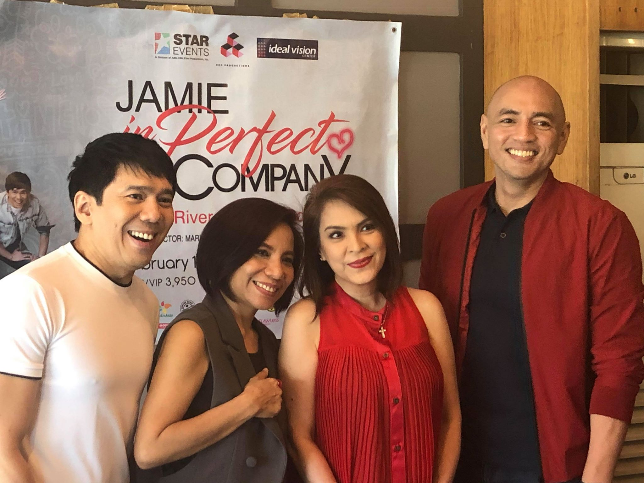 PERFECT COMPANY. Jamie Rivera and members of the Company. Photo from ABS-CBN PR