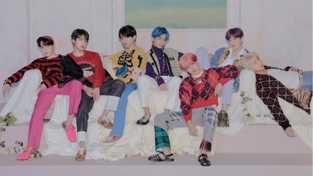 TOP OF THE CHARTS. The K-pop group is the first Korean act to to top Britain's album chart. Photo from Instagram.com/bts.bighitofficial