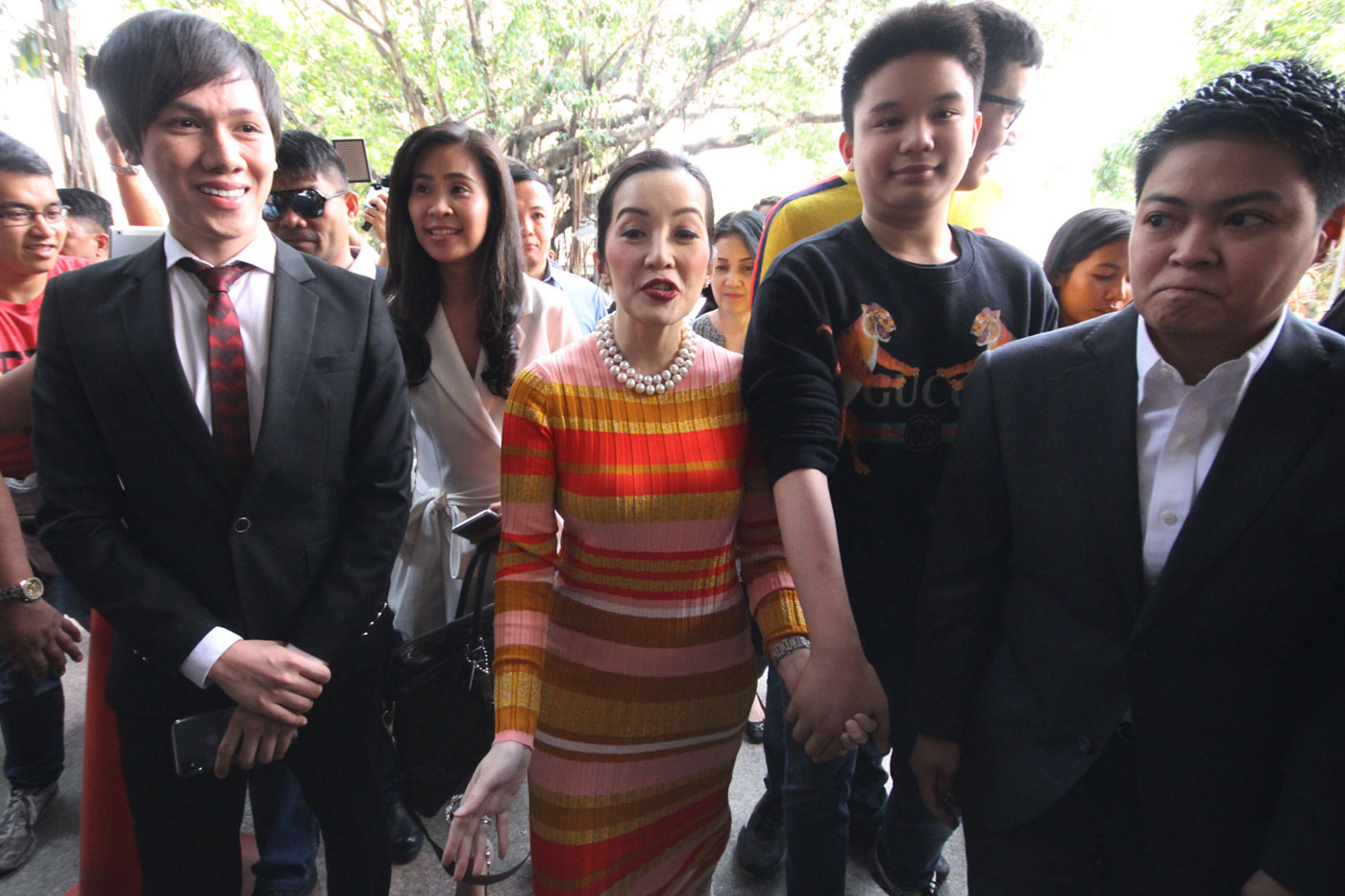 LEGAL BATTLES. In this file photo, actress Kris Aquino files a Counter-Affidavit over grave threats charges pressed against her by brothers Nikko and Jesus Falcis. File photo by Darren Langit/Rappler