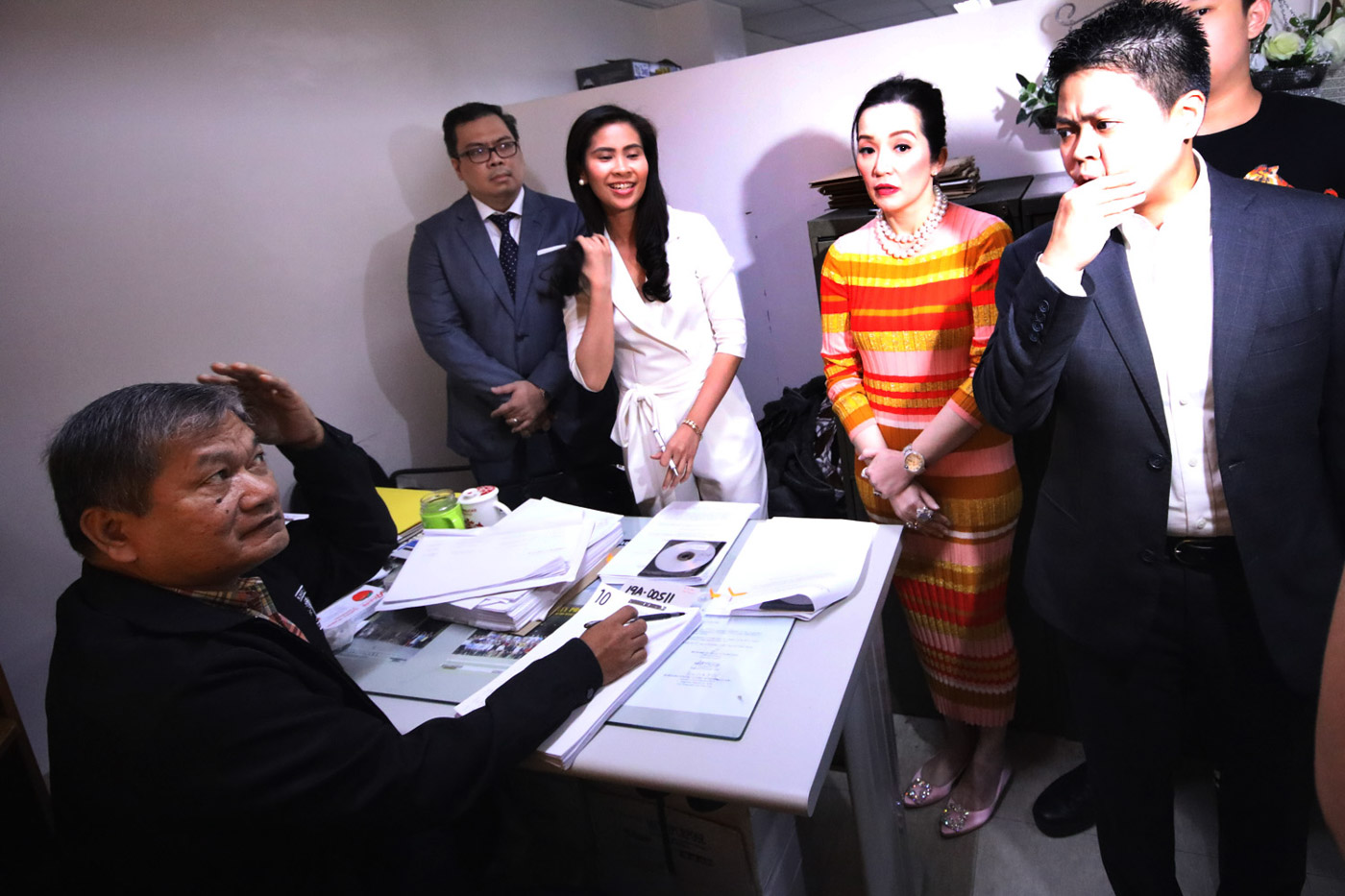 DISMISSED. Actress Kris Aquino files a counter-affidavit for the grave threats case filed against her by brothers Nikko and Jesus Falcis. File photo by Darren Langit/Rappler