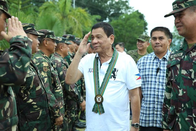 PROMISES TO MILITARY. President Duterte visits the 10th Infantry Division in Mawab, Compostela Valley on September 20, 2016. Photo by Karl Normal Alonzo/PPD