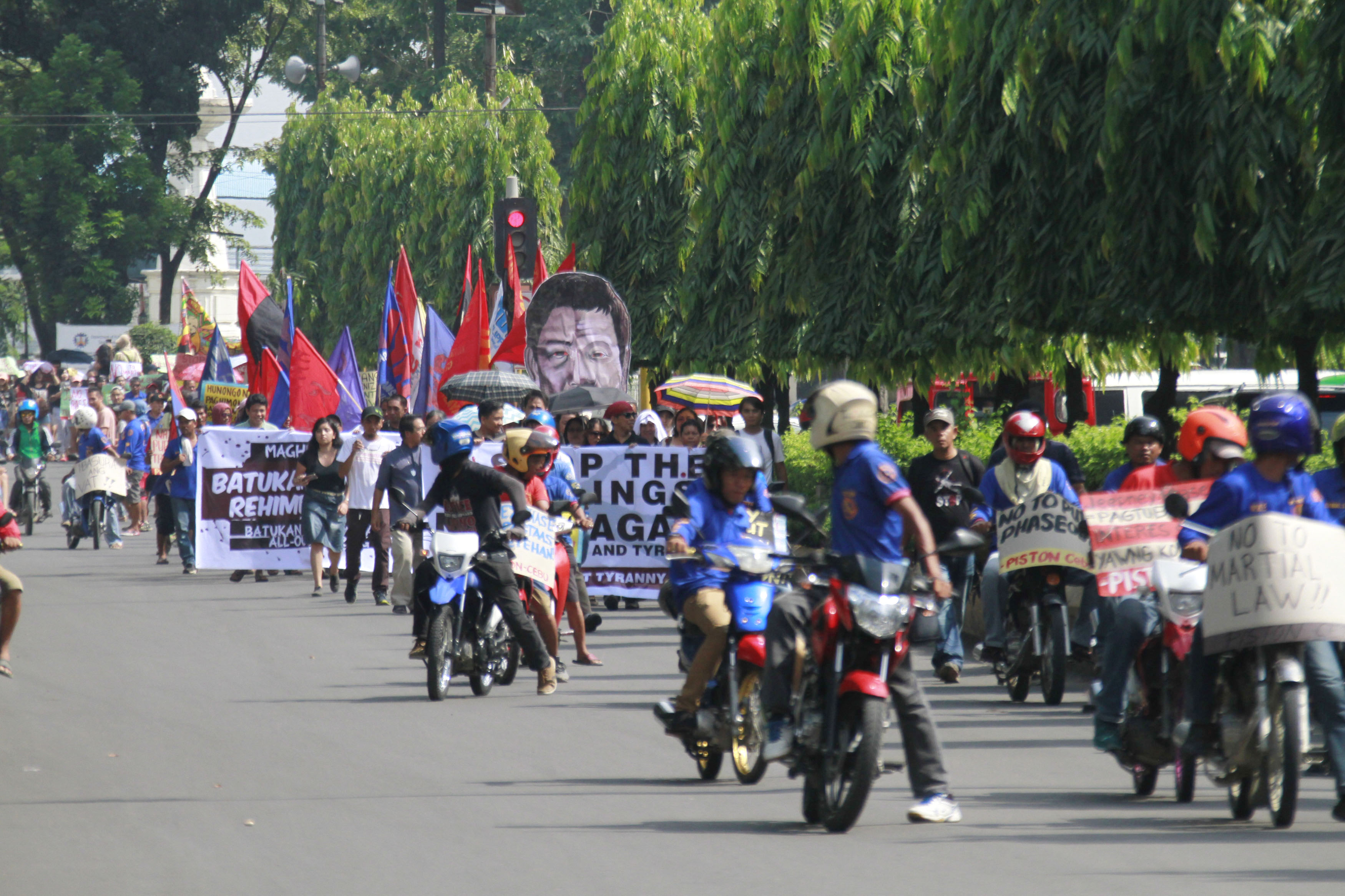 CEBU PROTEST. Various groups join the national day of protest in Cebu. Photo by Gelo Litonjua/Rappler