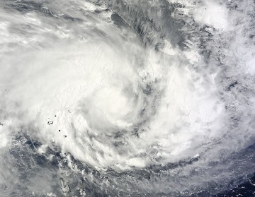 The MODIS instrument aboard NASA's Terra satellite captured this visible image of Tropical Cyclone Pam in the South Pacific Ocean on March 9 at 23:00 UTC. Image Credit: NASA Goddard MODIS Rapid Response Team