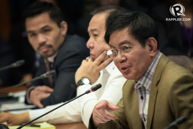 'WAKE UP CALL.' Senator Panfilo Lacson tells the PNP they need to earn the public's trust against to help them cleanse their ranks. File photo by LeAnne Jazul/Rappler