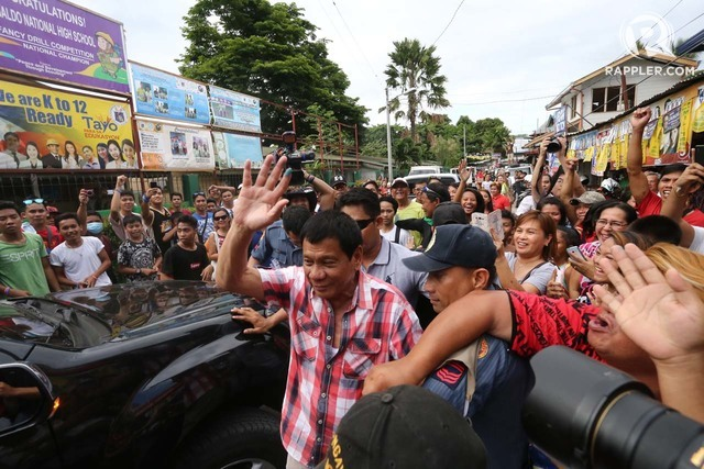 MR. PRESIDENT. Davao City Mayor Rodrigo Duterte on election day, May 9. Manman Dejeto/Rappler/File