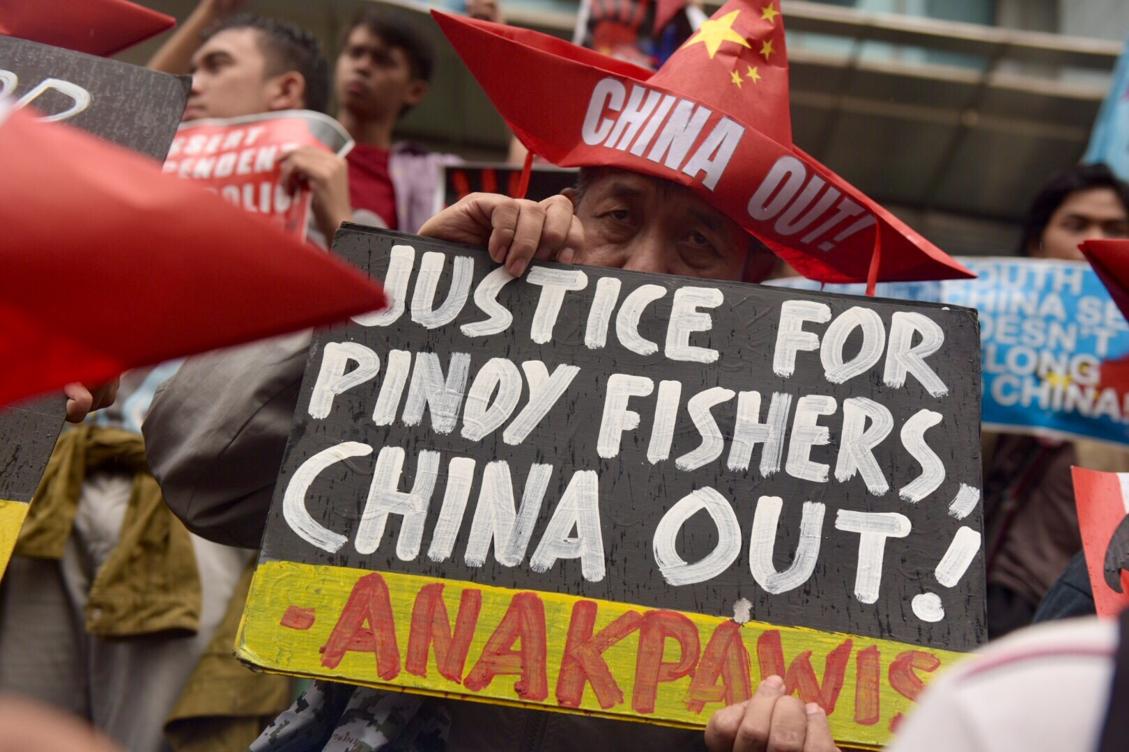 CHINA OUT! Militant groups call on China to leave the disputed territories in the West Philippine Sea.
