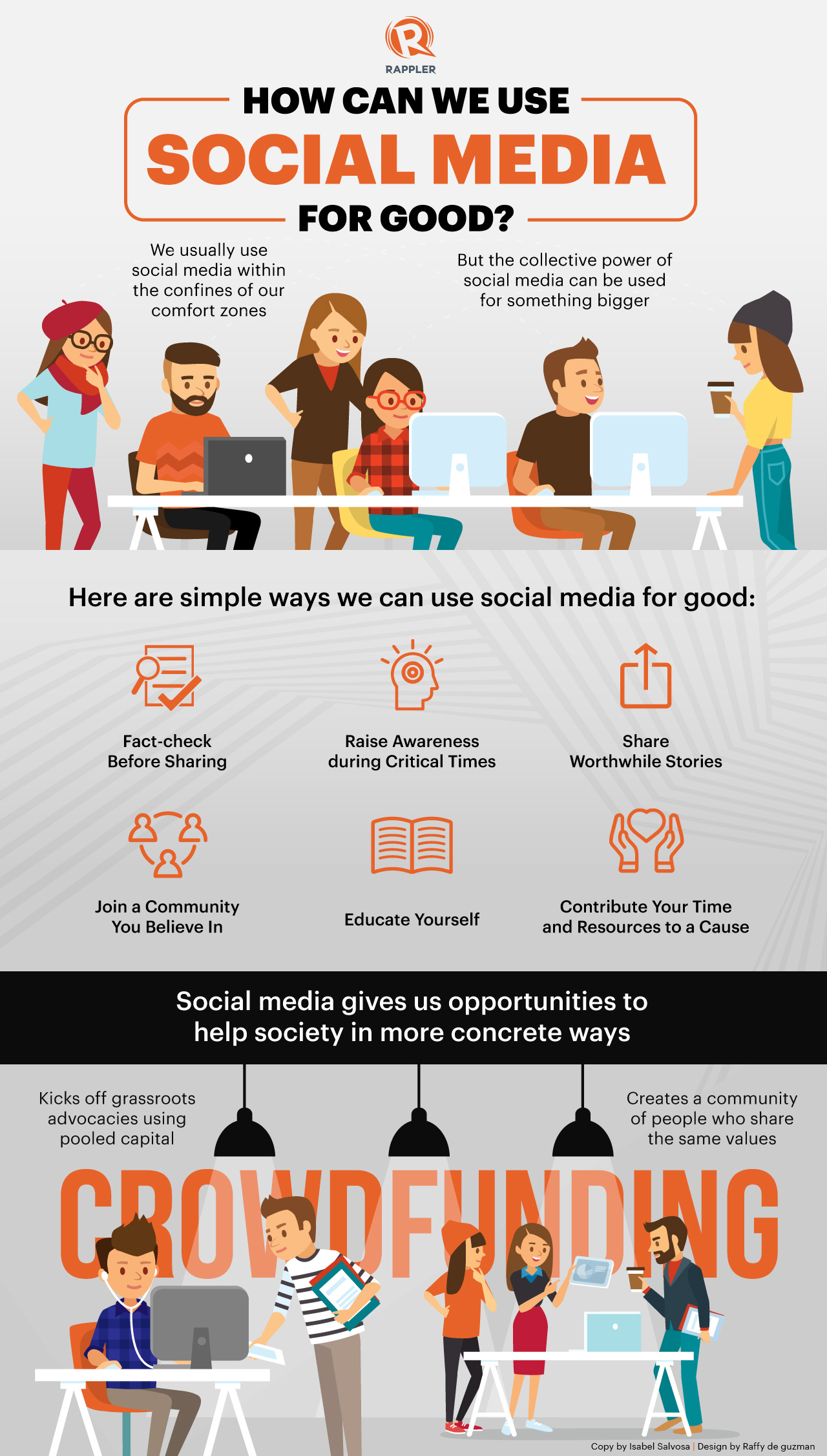 INFOGRAPHIC: Ways to use social media for good