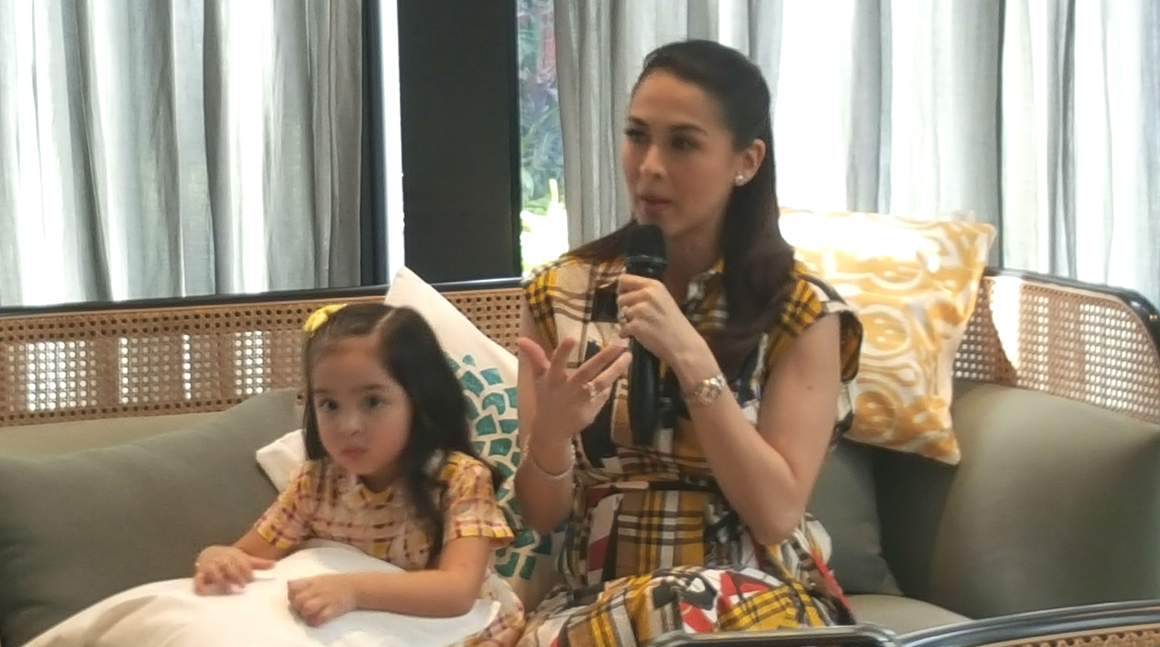 TIME WITH ZIA. Marian and Zia are the new faces of Nido 3+ milk. The actress, who is pregnant with baby number 2, is expected to give birth in the summer.