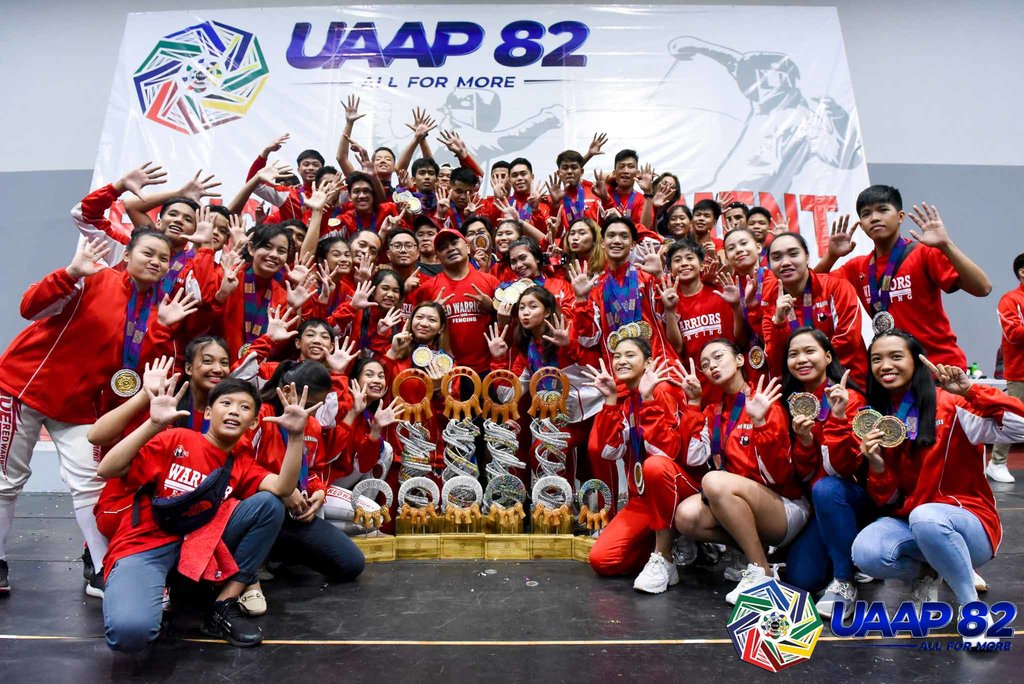 SWEET SWEEP. UE captured the overall fencing crown after winning all 4 divisions. Photo release