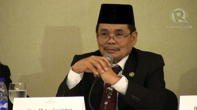 CRUCIAL TIMES. Moro Islamic Liberation Front chief negotiator Mohagher Iqbal denies issuing an advisory to MILF members to prepare for war. File photo by Angela Casauay/Rappler
