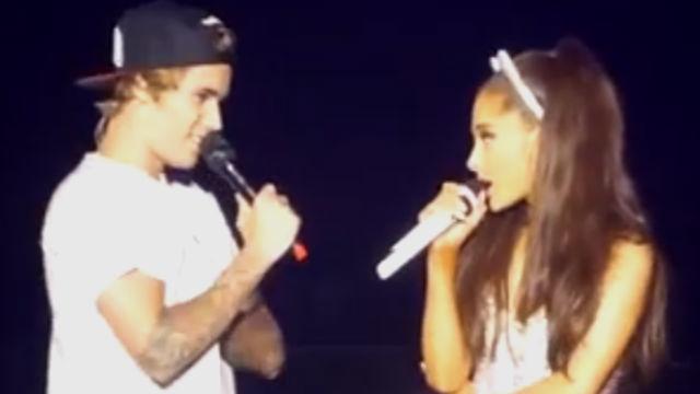 Justin Bieber Ariana Grande Tour Justin Bieber Surprises Ariana