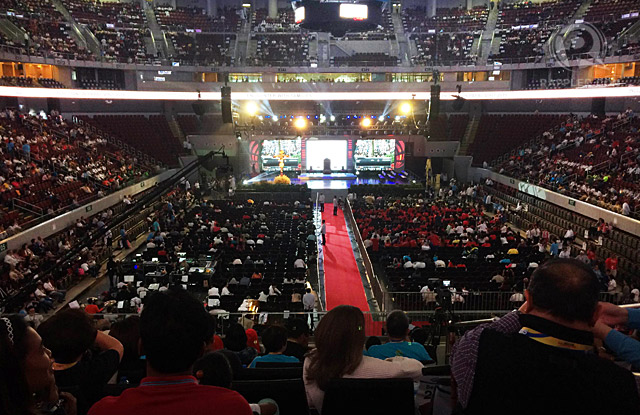 The view of the Mall of Asia Arena before the start of Pope Francis' meeting with families, January 16, 2015. Rappler photo