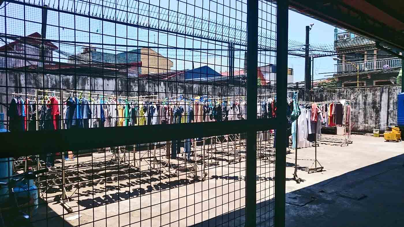 NEW BEGINNING. The wet laundry of the 'trainees' dries in the sun ready for a fresh start. Photo by Renzo Acosta/Rappler