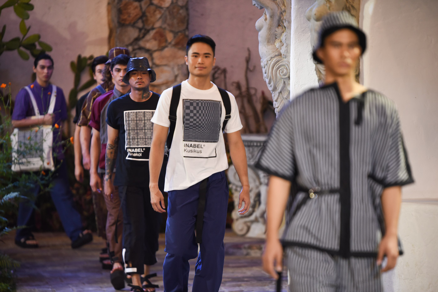 MEN'S WEAR. Otto Sacramento's collection using inabel.