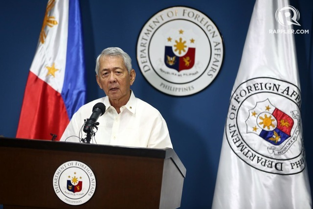 QUIET ACTIONS. Foreign Affairs Secretary Perfecto Yasay Jr says the government is protecting Philippine interests in the West Philippine Sea. File photo by Ben Nabong/Rappler