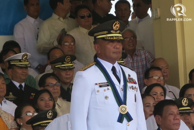 RETIRING. General Ricardo Visaya has one of the shortest terms as chief of staff of the Armed Forces of the Philippines