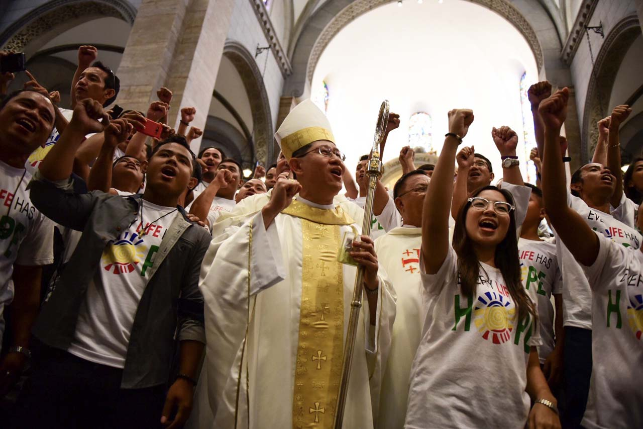 CLIMATE AGREEMENT. Manila Archbishop Luis Antonio Cardinal stresses the importance of Earth Day 2017, noting that it coincides with historic Paris climate agreement's entry into force for the Philippines