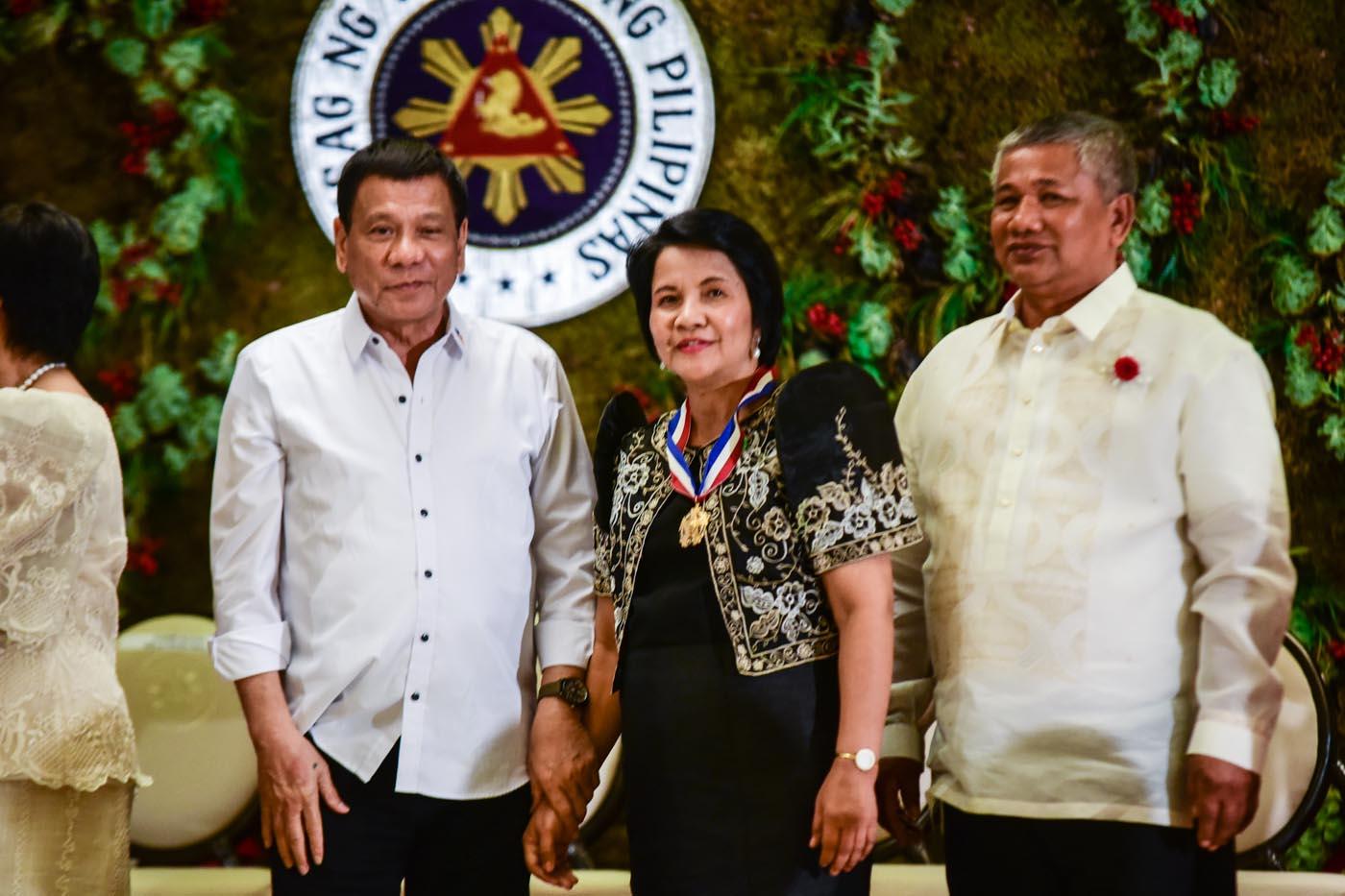 President Rodrigo Duterte with team leader Dalisay Moya