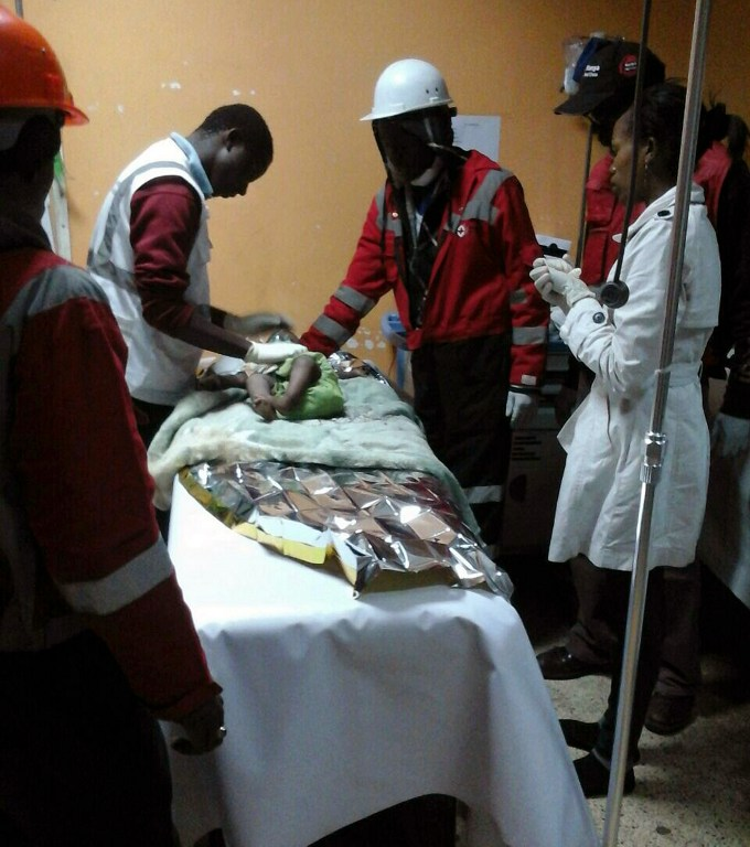 Baby girl rescued 4 days after Kenya building collapse