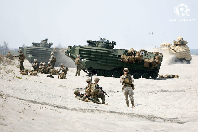TREATY ALLIES. The US and Philippine militaries conduct annual military exercises. File photo by Ben Nabong/Rappler