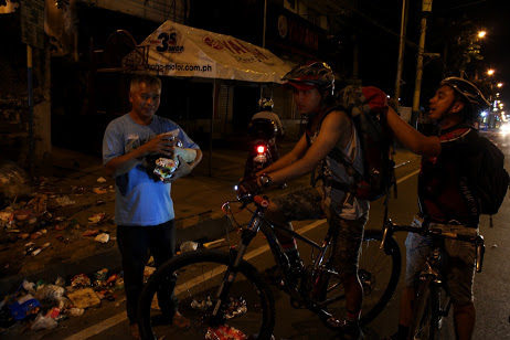 CHRISTMAS EVE. Volunteer bikers from Bike Scouts Philippines spend their Christmas on the road for the fourth time.